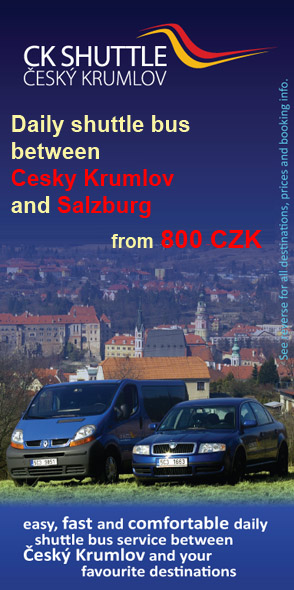 CK Shuttle - daily door-to-door shuttle bus between Cesky Krumlov and Salzburg from 900 CZK per person